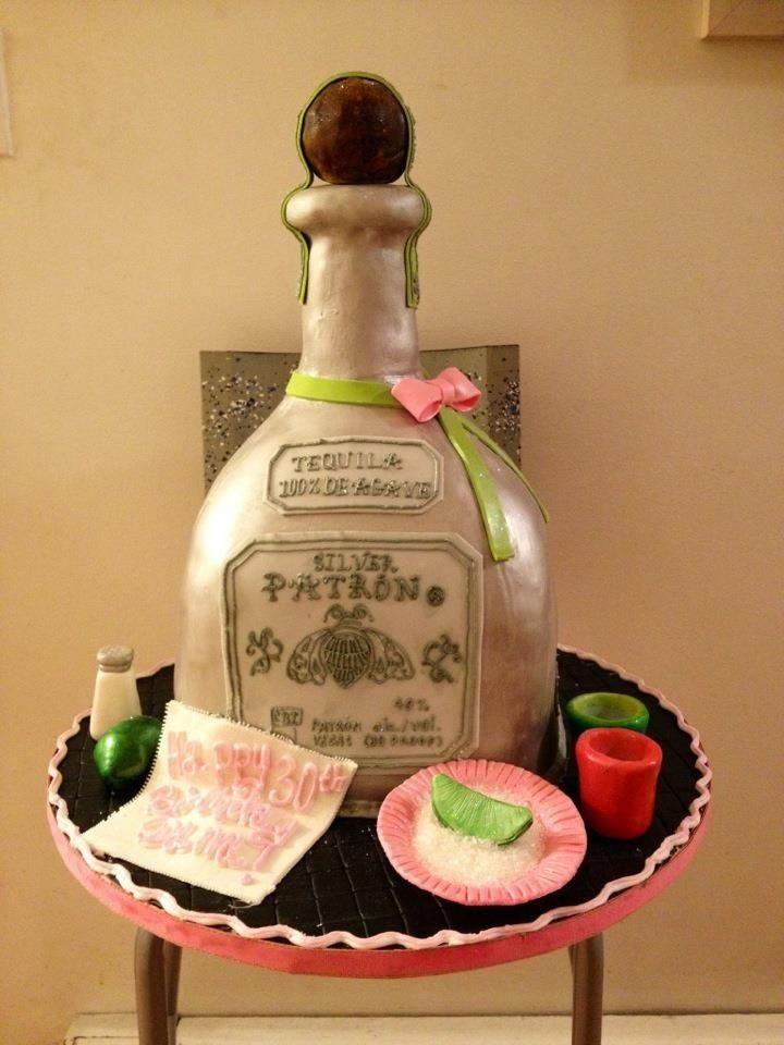 Best Patron Cake Images On Pinterest Bottle Cake Birthday - Patron birthday cake