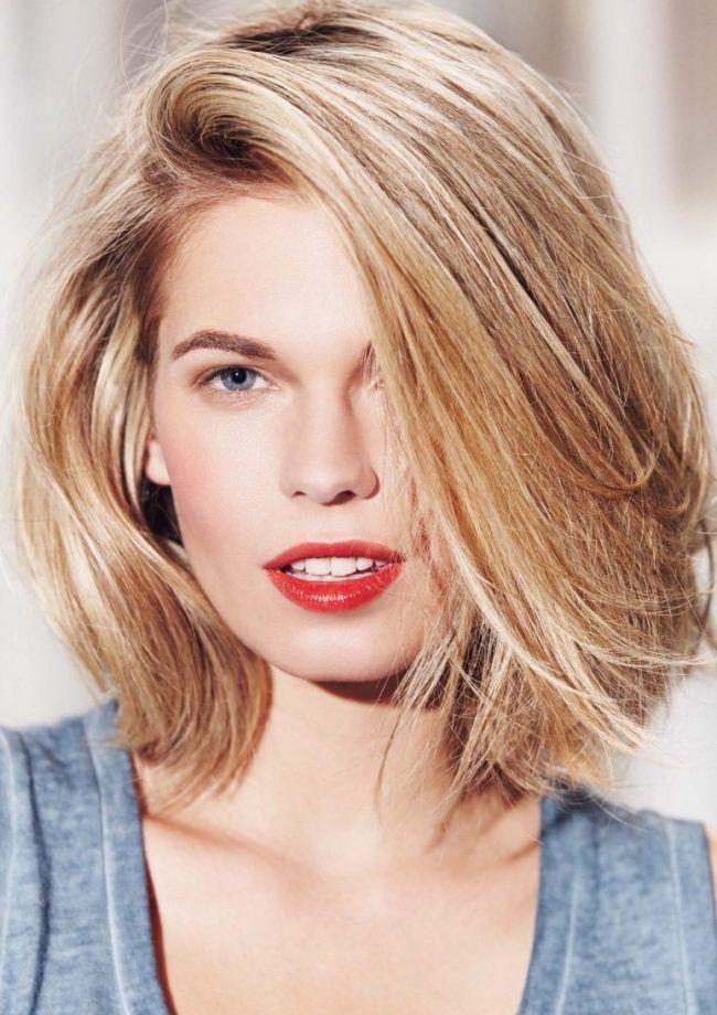 Оригинальные женские стрижки для круглого лица в 2016 году — на короткие и средние волосы (50 фото)