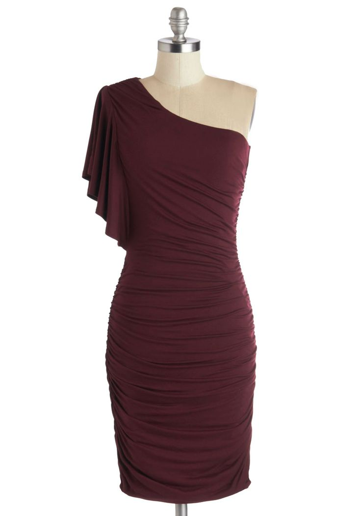 Tasting Room Dress in Wine | Mod Retro Vintage Dresses | ModCloth.com