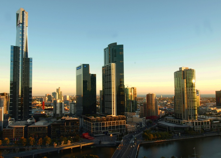 Dusk River South View Melbourne