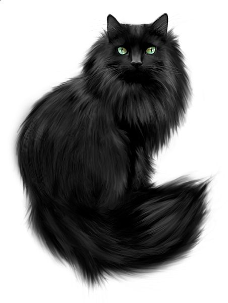 Painted Black Cat Clipart .... looks SO much like my Bugsy.... oh how I miss that boy!