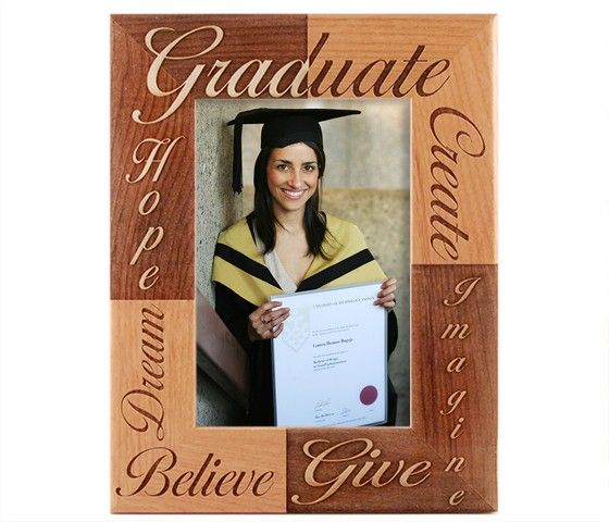 engraved wooden frames crafted by giftworksplus from natural alder wood make classic high school college graduation gifts proudly made with quality in the