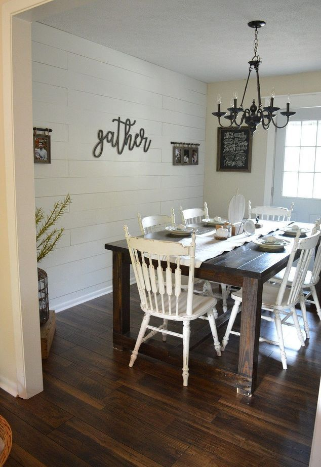 Gorgeous Shiplap At A Fraction Of The Price Dining Room Makeover Farmhouse Dining Room Dining Room Accents