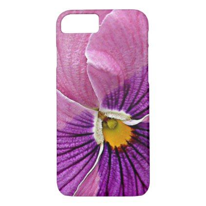 Pretty Violet Purple Pink Pansy Flower Design iPhone 8/7 Case - flowers floral flower design unique style