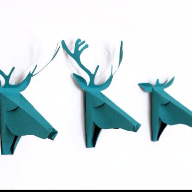 MooseFaux Taxidermy, Blue Pictures, 3D Paper, Faux Deer Head, Animal Head, Deer Heads, Greeting Cards, Cardboard Art, 3D Cards
