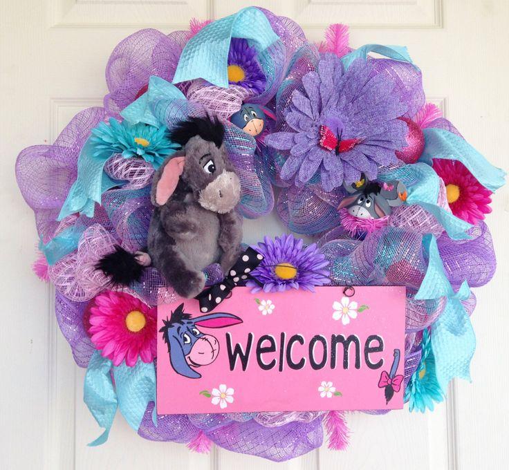 Eeyore Disney Wreath by SparkleForYourCastle on Etsy https://www.etsy.com/listing/180385538/eeyore-disney-wreath