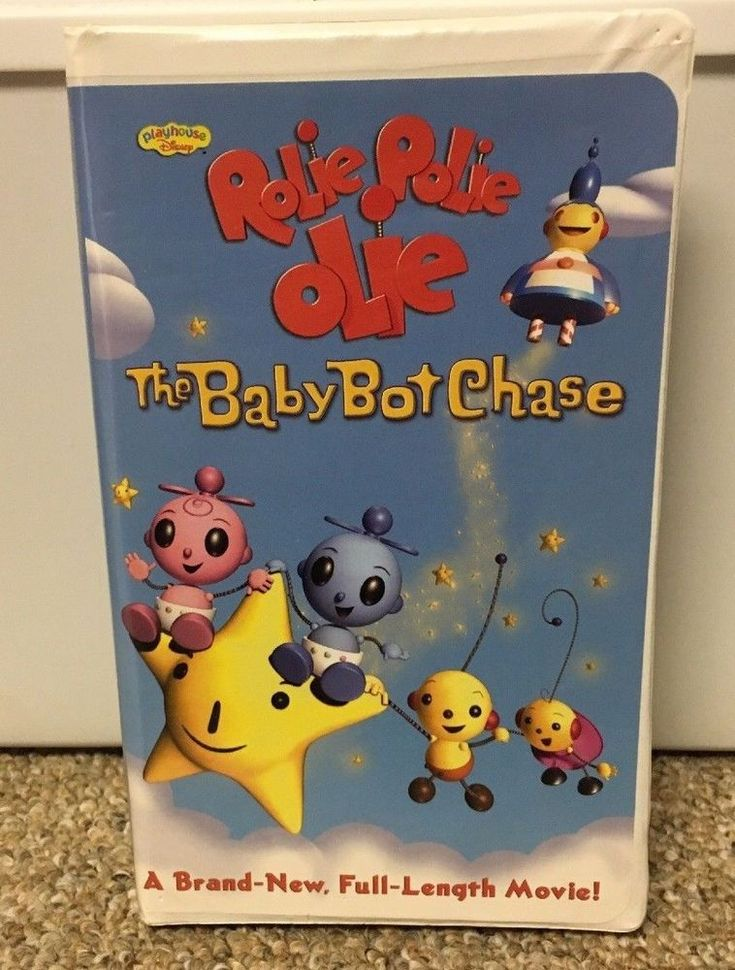 ROLIE POLIE OLIE VHS The Baby Bot Chase PLAYHOUSE DISNEY Cartoon Baby Toddler
