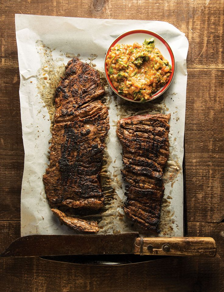 Sweet papaya and tart Ruby Red grapefruit juice tame the heat of the Scotch bonnet pepper in this steak marinade.