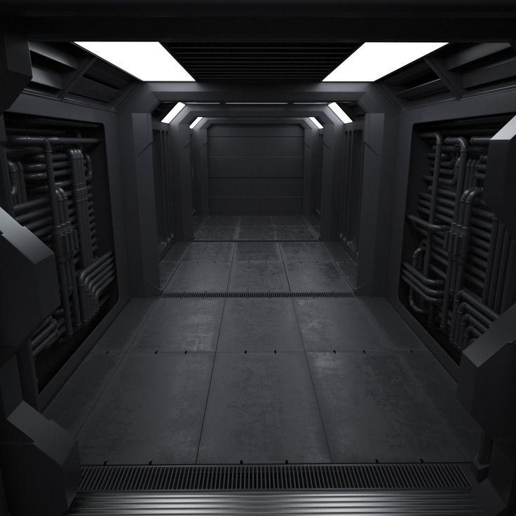 3d sci fi interior model cinema 4d pinterest d interiors and 3d. Black Bedroom Furniture Sets. Home Design Ideas