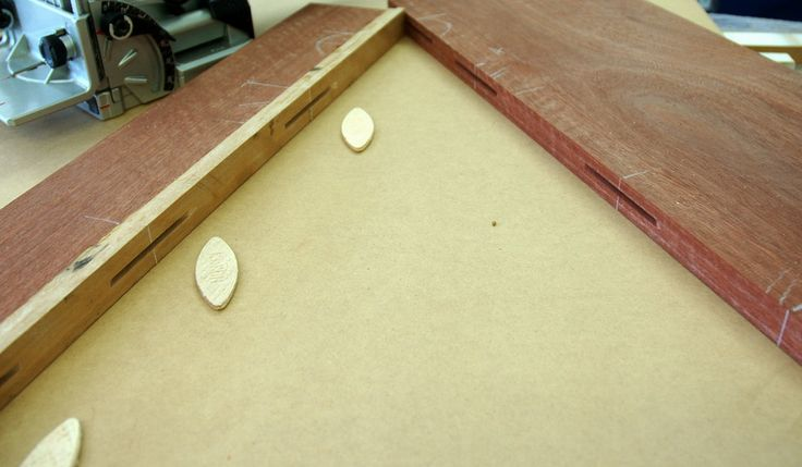 Step 6: For added strength, biscuit jointing is used to prevent splitting of jointed seems