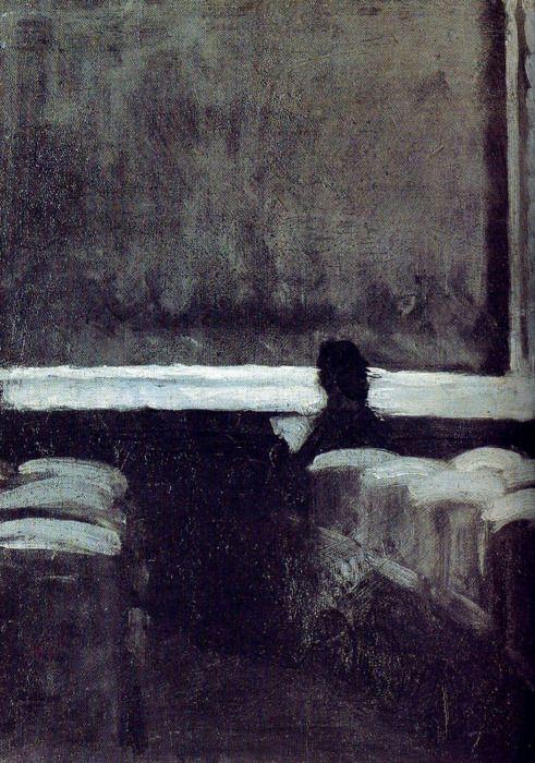 Edward Hopper. Figura solitaria en teatro.                              …