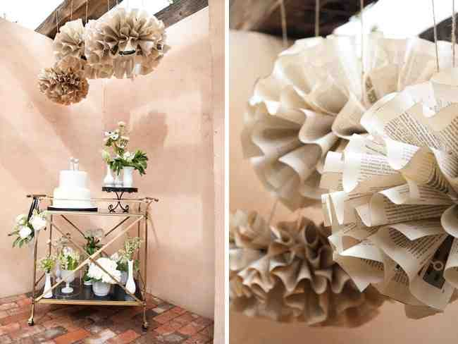 Recycled Wedding Decor