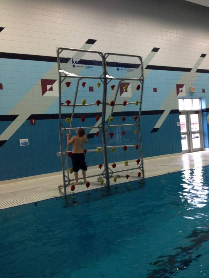 Kersplash Pool Climbing Wall at the New