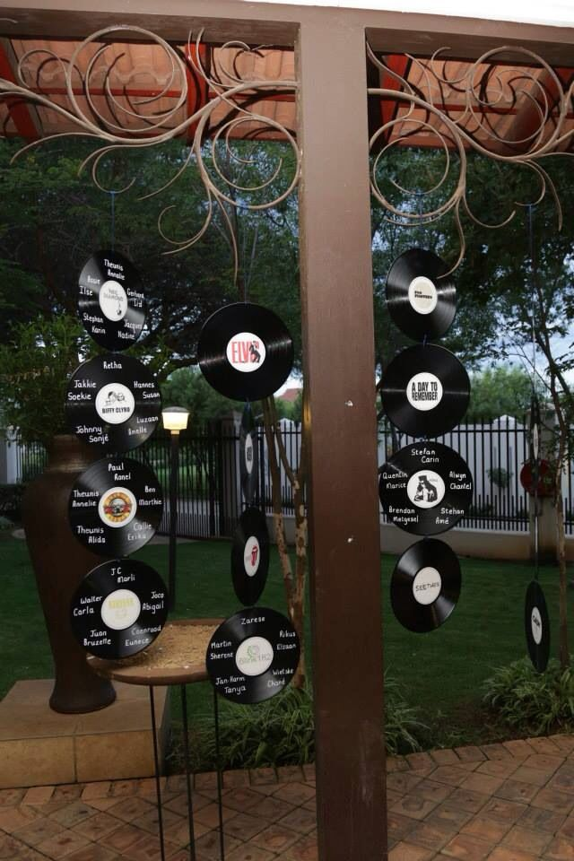 Vinyl plates table sittings