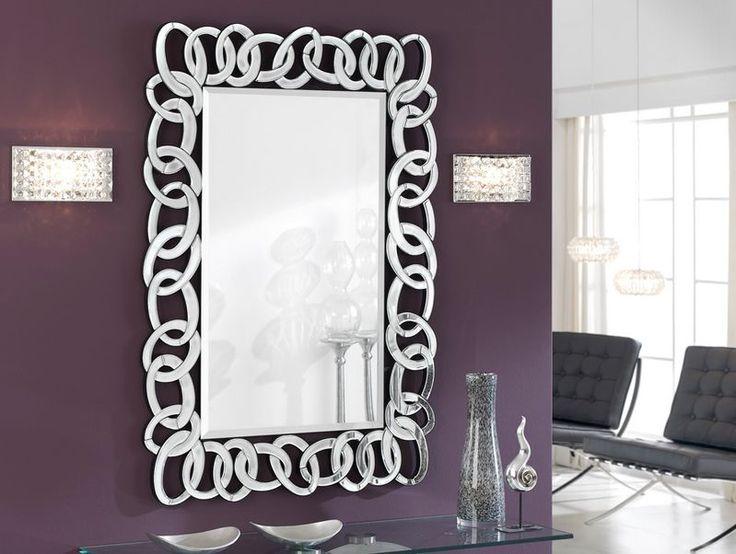 Espejos de dise o moderno de cristal eslabones decoracion for Espejos decorativos rectangulares