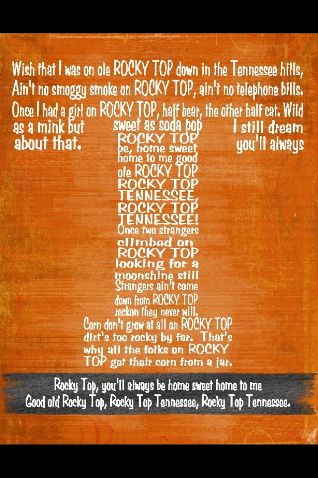 ROCKY TOP! Go Vols!