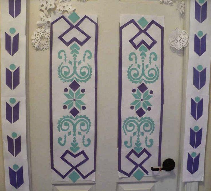 Elsa's Door Paper Craft With Free Templates. #frozen