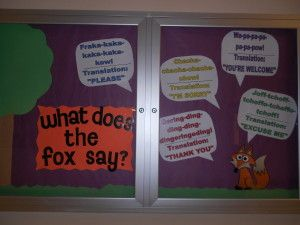 What Does The Fox Say? Bulletin Board
