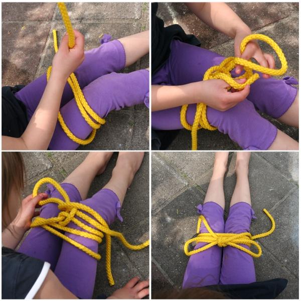 met een springtouw veter strikken oefenen springtouw te bestellen via www.toys42hands.nl