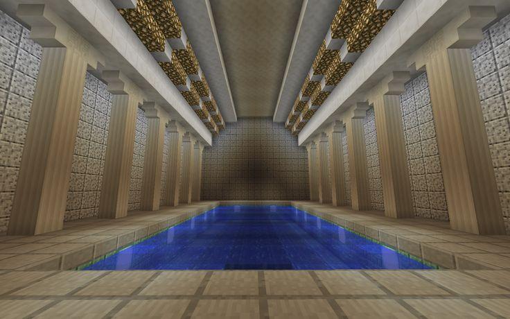 Indoor pool imgur minecraft mostly builds pinterest for Minecraft foyer ideas