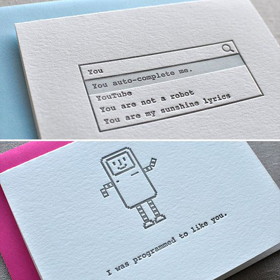 Valentine cards for your beloved techie