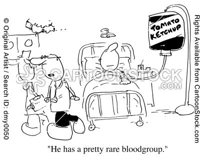 """""""He has a pretty rare blood group."""""""