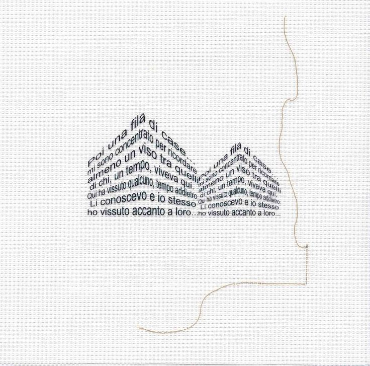 cotton thread - fabric - transparent film - laserprint