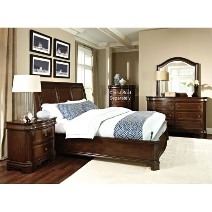 International furniture st james collection 6 piece queen bedroom set bedroom furniture Elements cameron bedroom set