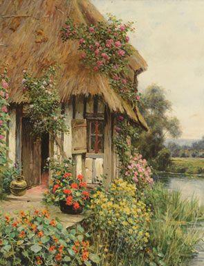 Louis Aston Knight, Diana's Cottage. Oil on canvas