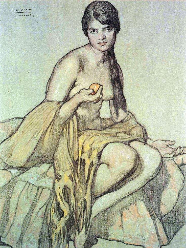 El rebozo,1916, Saturnino Herrán