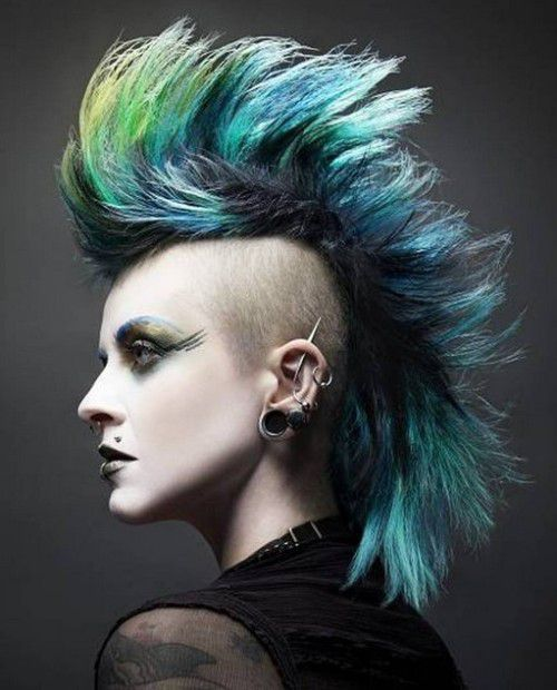 style mohawk hair colored and big mohawk style 2016 hairstyles ideas 7120