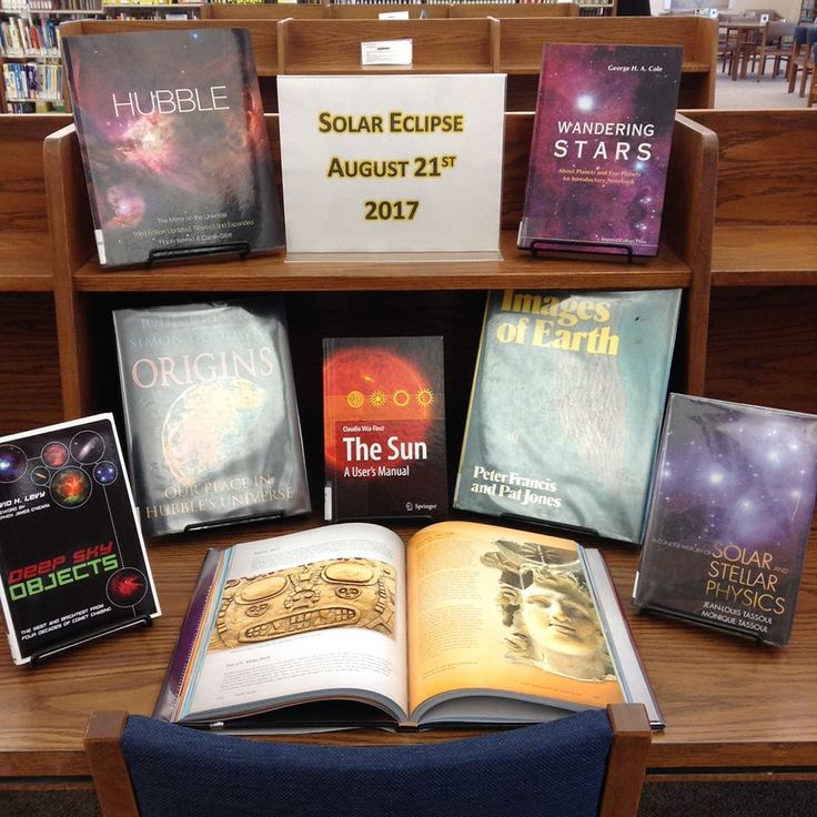 Special Library Book Display - Solar Eclipse Display