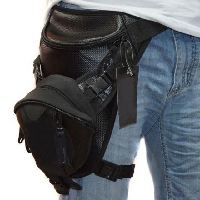 Hebetag Outdoor Motorcycle Bike Drop Leg Bag For Men Women Thigh Waist Fanny