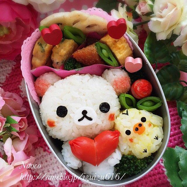 Big Heart from Korirakkuma and Kiiroitori, valentines bento series ❤️  コリラックマちゃんとキイロイトリさんから大きなハートをプレゼント❤️  今日の長女ちゃん園弁です✨ 今年のバレンタインシリーズはあと1回で終わりなの。。。さみしいなぁ  今日はSpotlightというメディアに、お子様ランチのスペシャリストで公式ライターのAYAちゃん @peperoncino_aya が、私のキャラ弁特集記事を書いて下さいました ✨ 【世界が驚く!母の熱い想いを込めた進化するキャラ弁】(ちょっと恥ずかしいですが〜) ✨ キャラ弁作りに込めた想い、普段気をつけていること、将来の夢なども書いていただきました キャラ弁フォト満載でとても素敵にまとめてくださってます ✨ よかったら読んでみて下さいね❤️ http://spotlight-media.jp/article/113992084658241984 ✨ #bentoart #bs_world #cute #cutefood #cutebento…