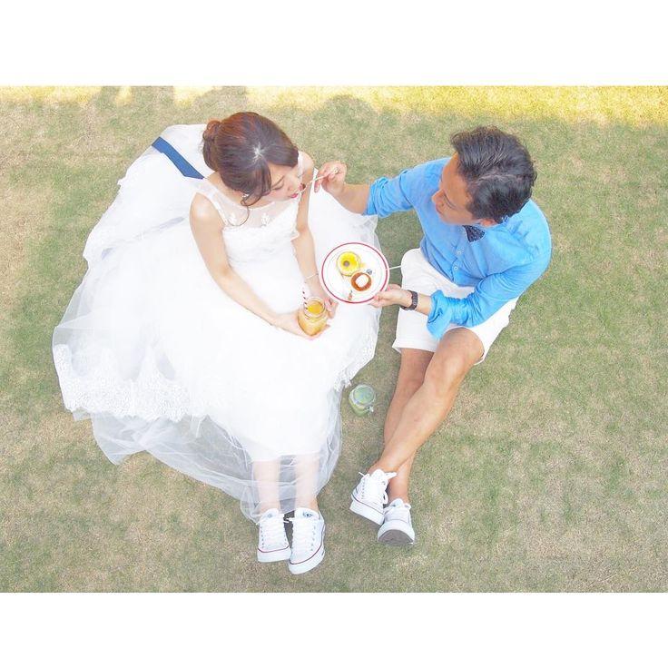 真上から撮る結婚式の前撮りアイデア・ウェディングフォトまとめ | marry[マリー]