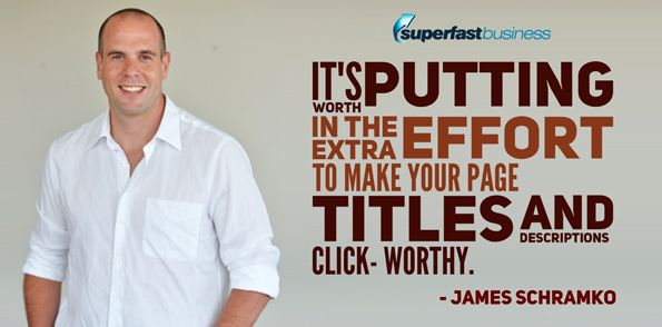 I will probably be happy to accept just based on my own findings that it's worth putting in the extra effort to make your page titles and descriptions click worthy.  Get more SEO tips here  https://itunes.apple.com/us/podcast/james-schramko-superfast-business/id529116499