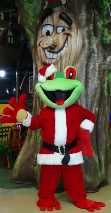 Emmit loves his new Santa outfit - come down and see him at Breakfast with Santa #Langley #BC #Abbotsford #SurreyBC #WhiteRock #Delta #Christmas2015