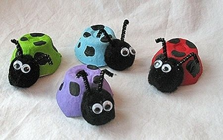 14. Egg Carton Bugs - 47 AWESOME Kids Crafts Your Little One Will Love ... → Parenting