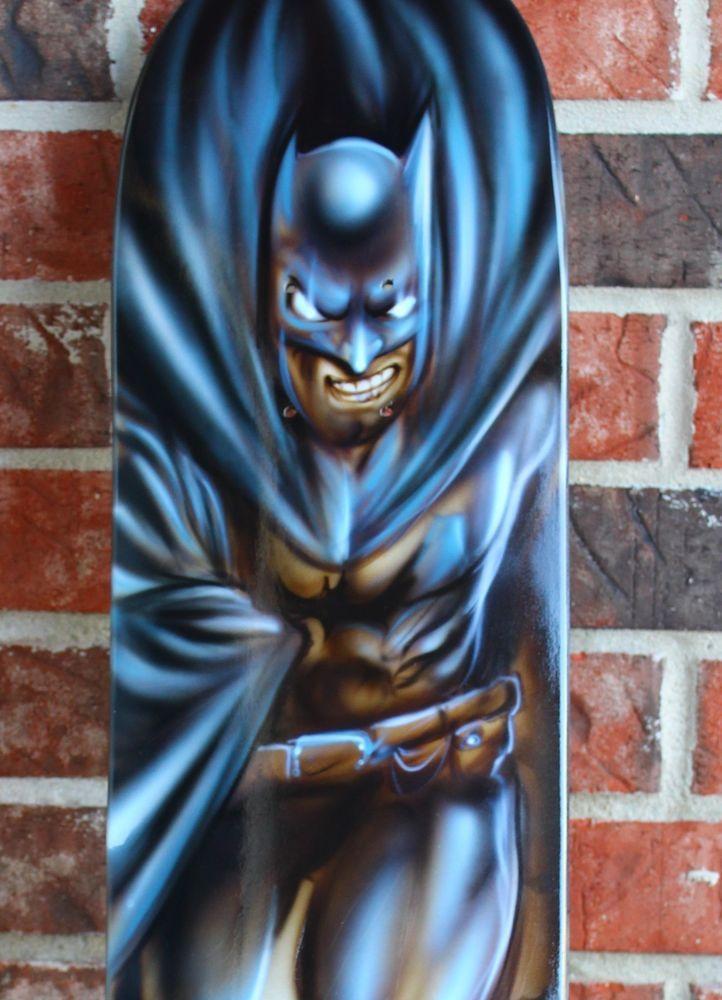Batman inspired skate board deck - Airbrush Dark Knight ...