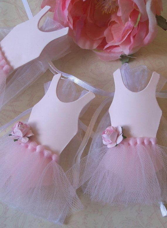 Ballerina birthday theme party Favor Bags 10 by FavorsByGirlybows, $17.00