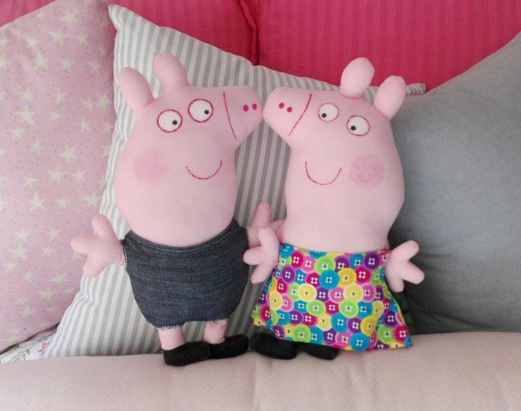 Peppa y George personalizados para fiesta de Emma. Esto y mas en @flofyco