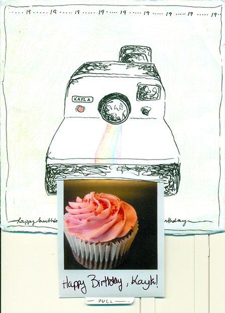 Neat Polaroid-Themed Birthday Card