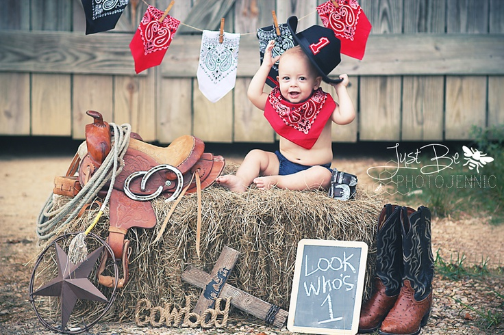 1st birthday! have to do this for royce! he has all the stuff! gotta get him his own saddle for his pony though! plus we dont need the hankers ! :)