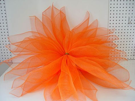 "Deco Poly Mesh Flower Tutorial Using 21"" Deco Poly Mesh and Pencil Ties with Balls Trendy Tree Blog"