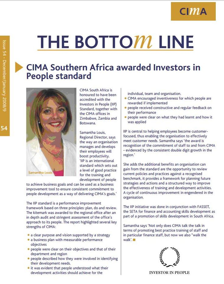 CIMA South Africa - Investors in People