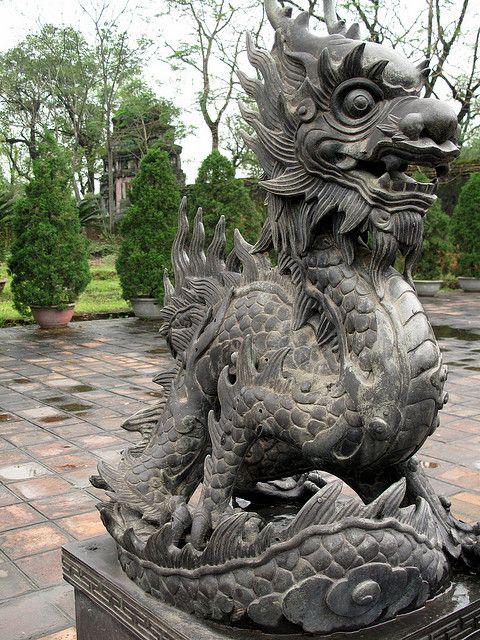 Dragon statue, Vietnam by twenty_questions, via Flickr