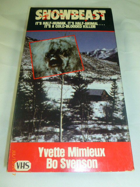 Snowbeast VHS 1986 Color 96 Mins It's Half-Human, It's Half-Animal Yvette Mimieux Bo Svenson by 2xisnice on Etsy