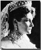 Tsarina Alexandra. Granddaughter of Britain's Queen Victoria and daughter of Louis IV, the Grand Duke of Hesse-Darmstadt.
