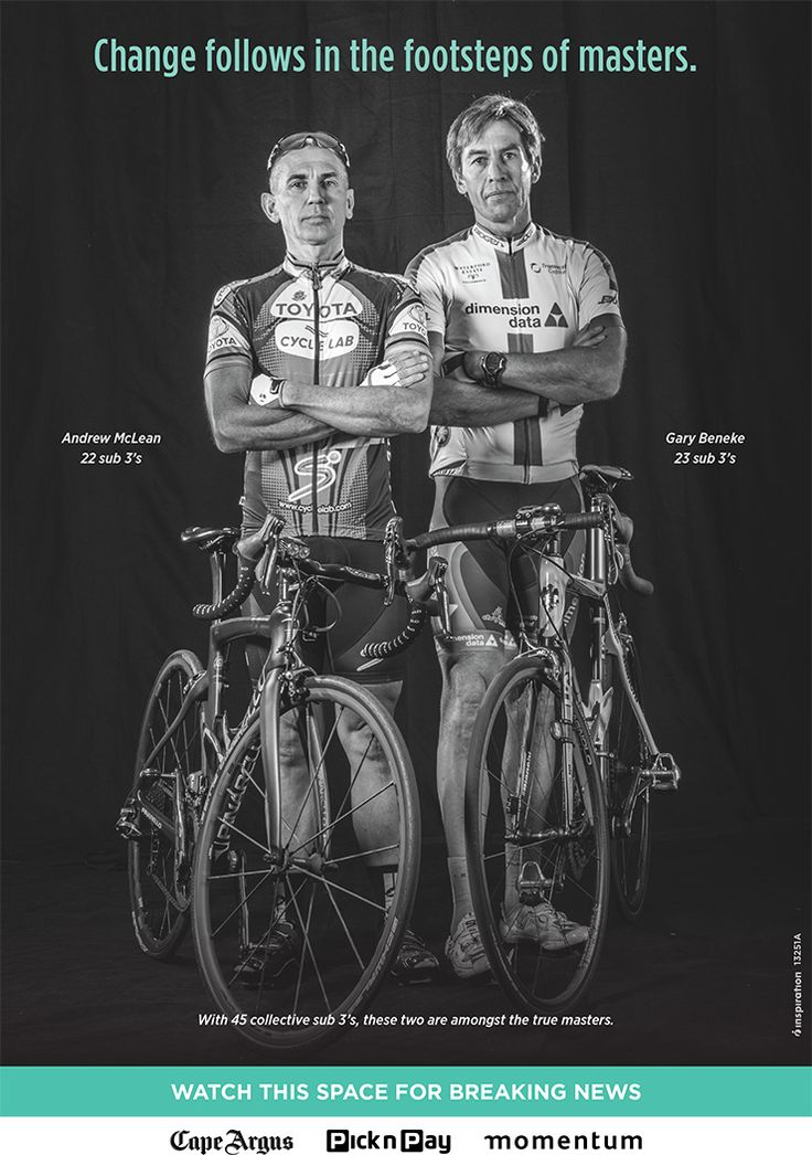 teaser ad for Cape Town Cycle Tour launch