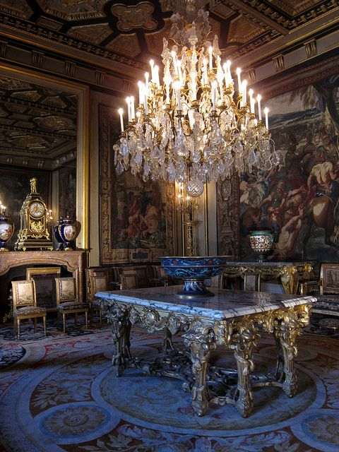 le gros salon dans le ch teau de fontainebleau en france 1662 grandi interjori cl si i. Black Bedroom Furniture Sets. Home Design Ideas